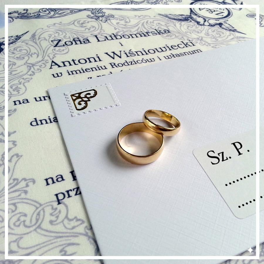 zaproszenia ślubne naserwetkach