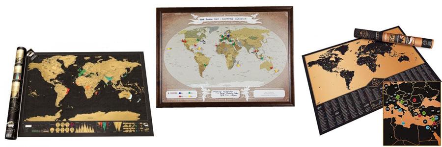 prezent ślubny dla podróżników - mapy