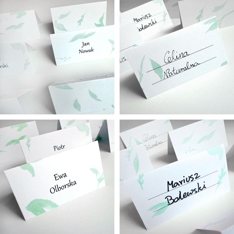 darmowe winietki weselne - Listki - dodruku