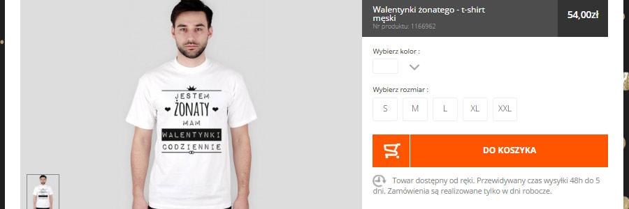koszulki dla zakochanych