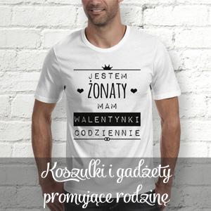 koszulki i gadżety promujące rodzinę i małżeństwo Mocem