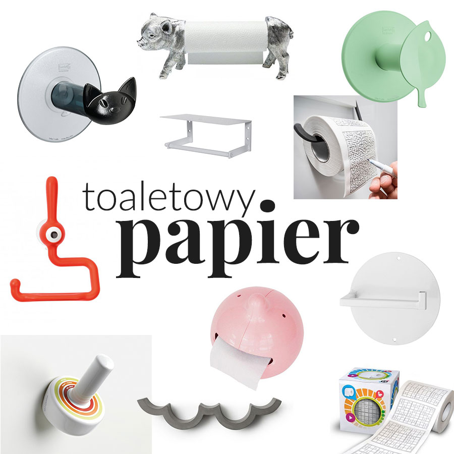 Wesołe ikolorowe dodatki dołazienki - wieszaki iuchwyty napapier toaletowy