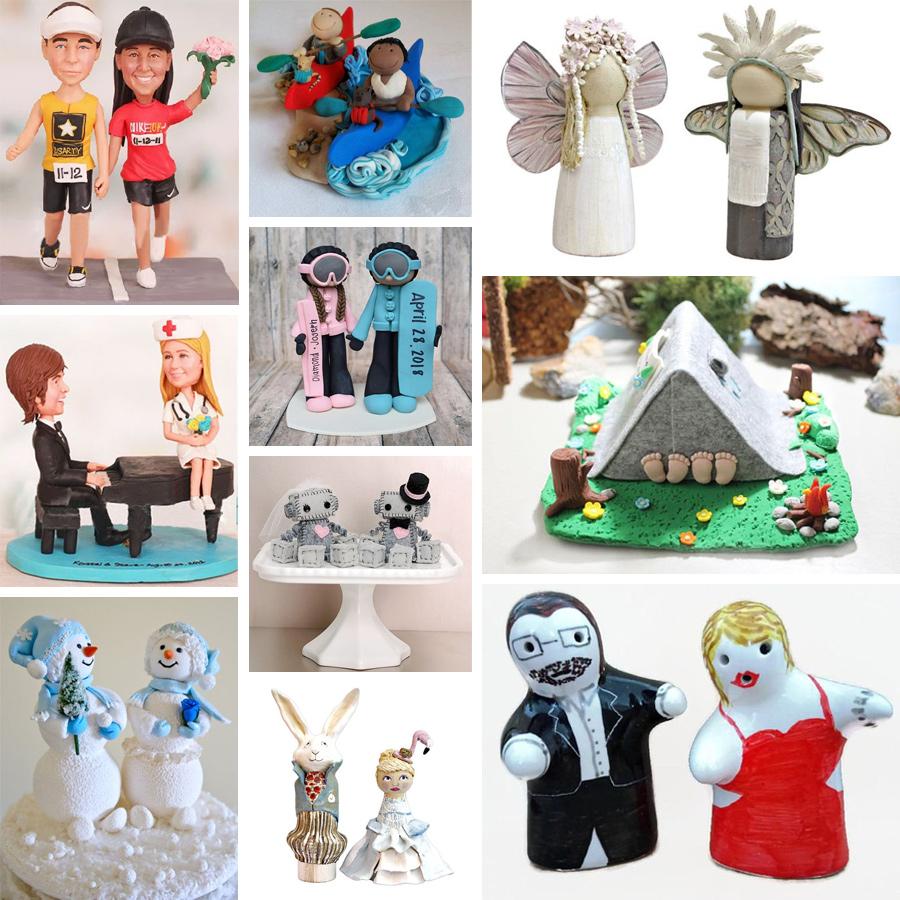 71 pomysłów natoppery weselne - figurki różne