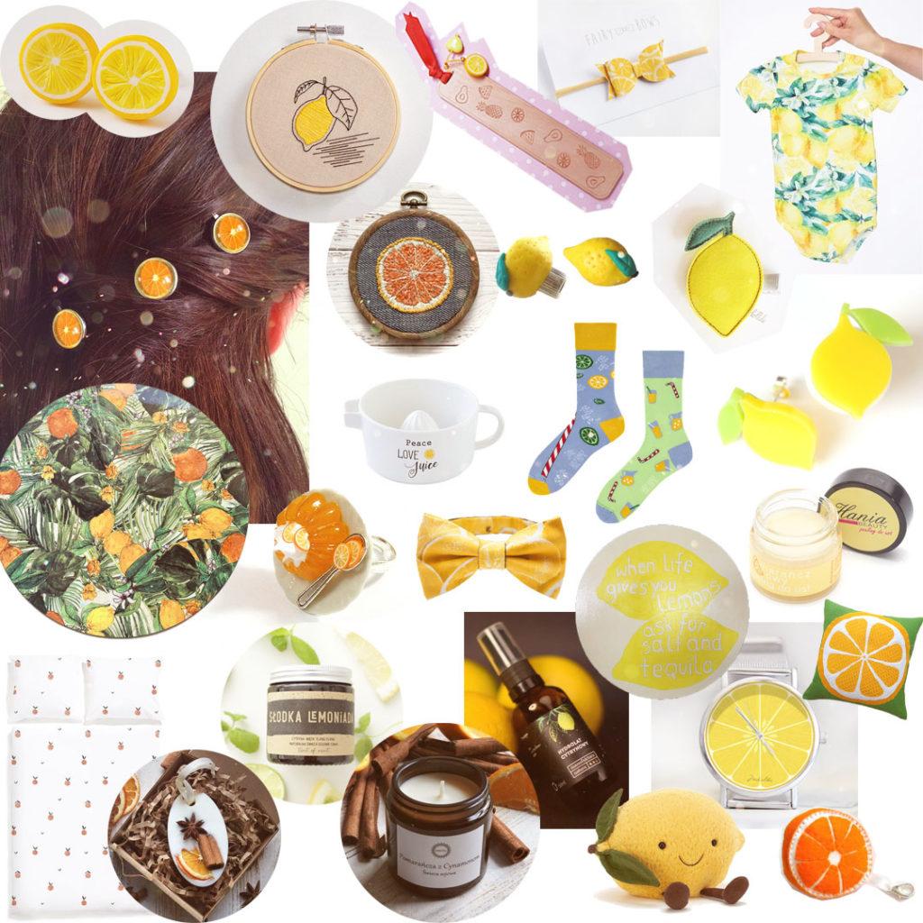 pomysł naprezent cytrusowy - cytryny, pomarańcze