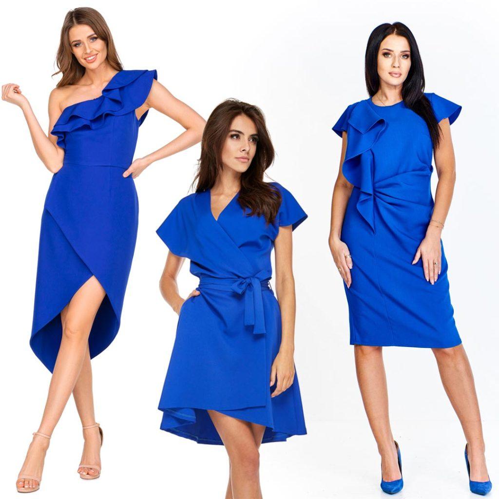 Sukienki weselne 2020 - chabrowe sukienki