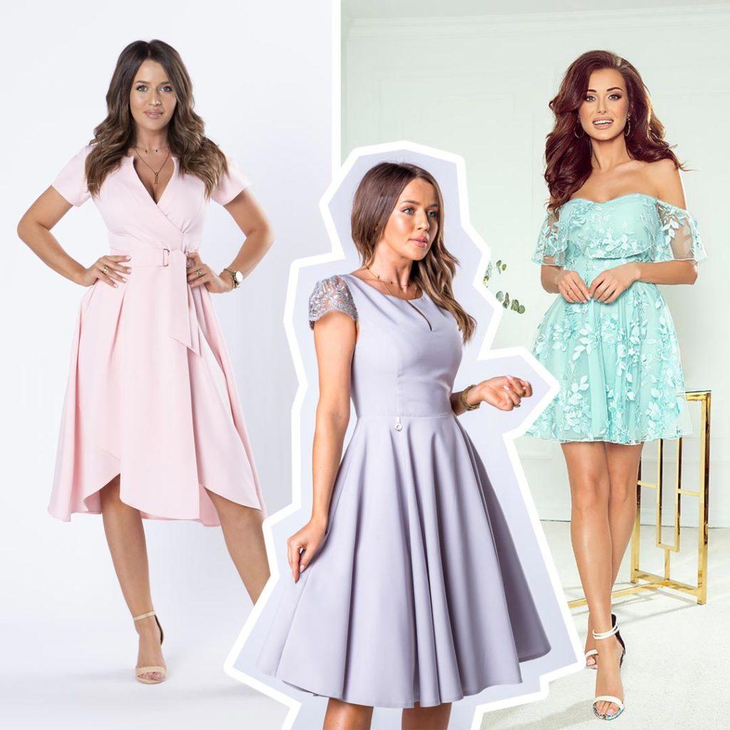 Sukienki weselne 2020 - pastelowe sukienki