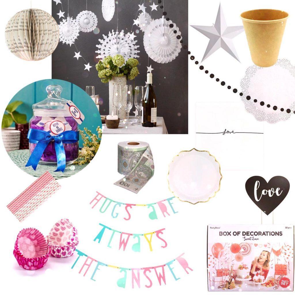 1 rocznica ślubu - papierowe gody - dekoracje iakcesoria